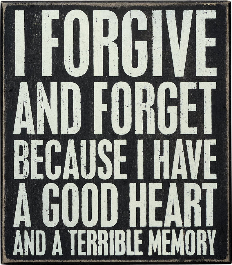 I Forgive Box Sign by Primitives by Kathy