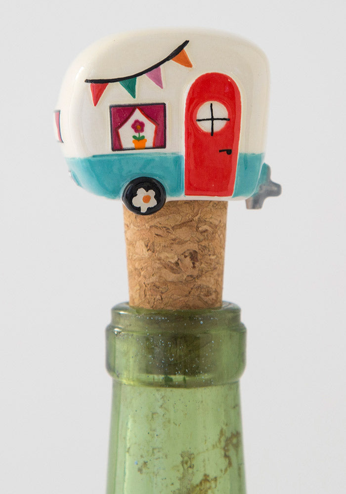 Camper Bottle Stopper By Natural Life