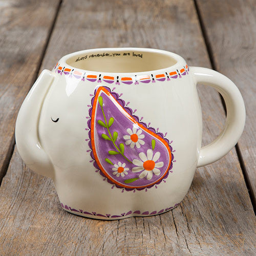Folk Art Mug - Elephant by Natural Life