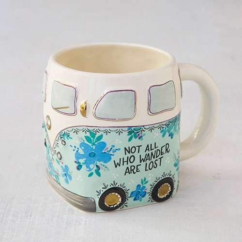 Not All Who Wander Van Folk Mug By Natural Life