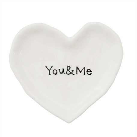 Heart Shape You & Me Dish by Creative Co-op