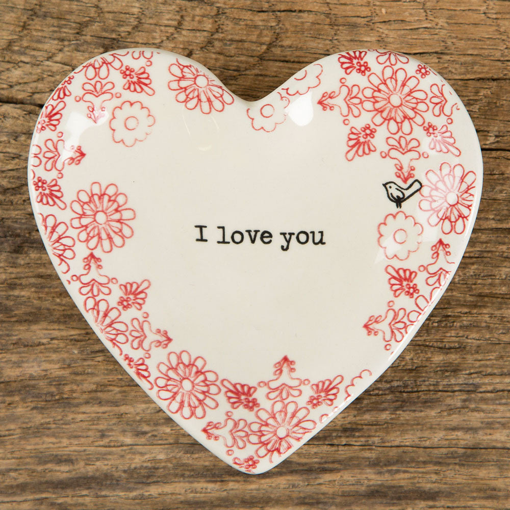 "Heart Trinket Dish ""I Love You"" by Natural Life"