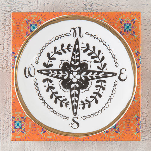 Compass Calypso Trinket Dish by Natural Life