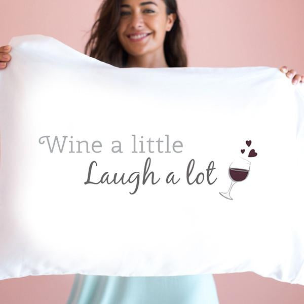 Laugh A Lot Single Pillow Case By Faceplant Dreams