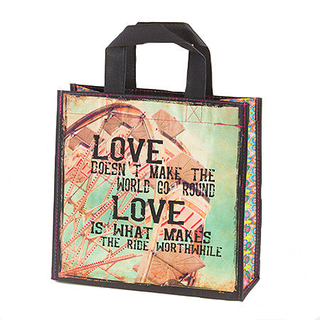 Love Doesn't Make the World Go Round Recycled Gift Bag By Natural Life