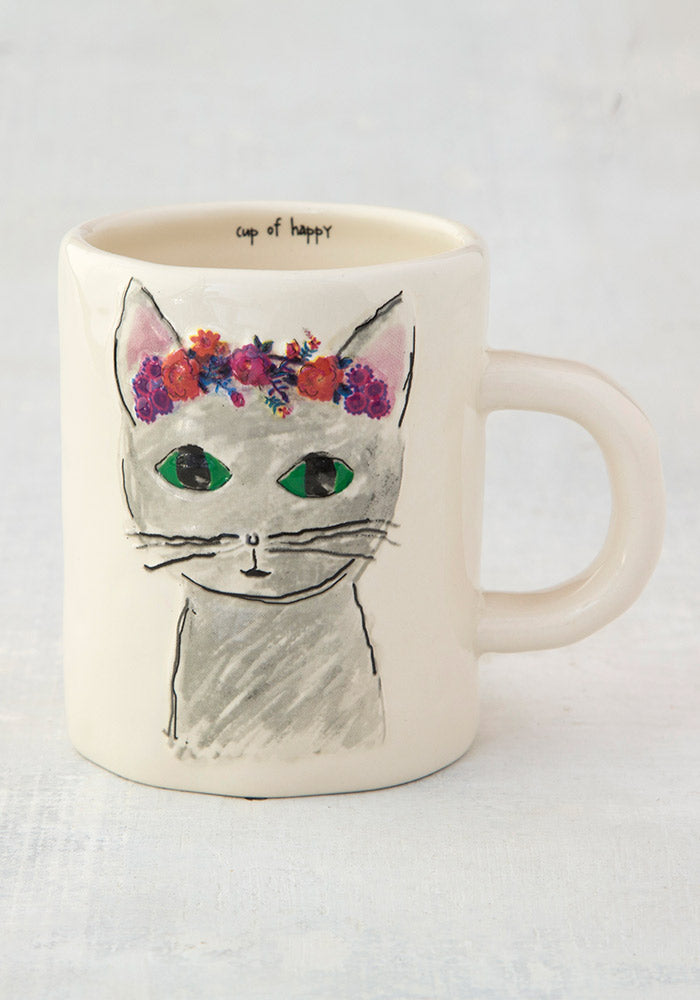 Cat Embossed Mug By Natural Life