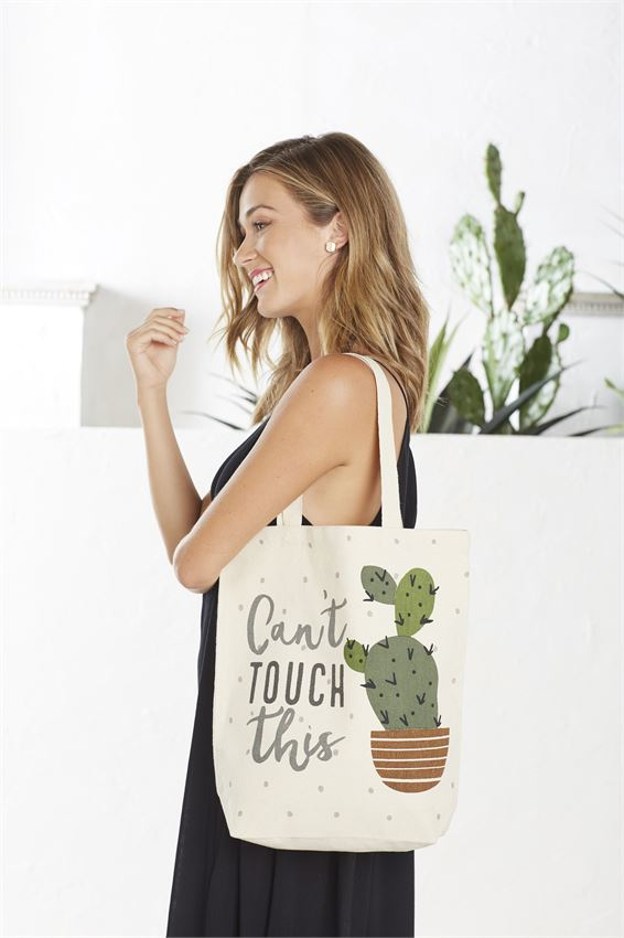 Cant Touch Canvas Tote Bag By Mudpie