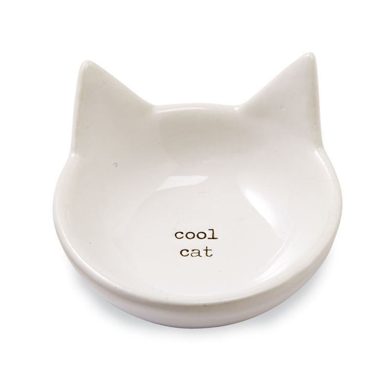 """Cool Cat"" Cat Trinket Dish by Mudpie"