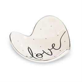 """Love"" Trinket Dish By Mud Pie"