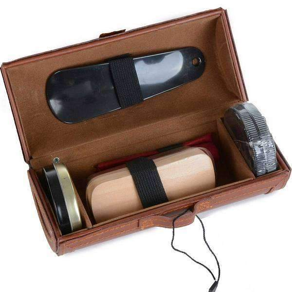 Brown Shoe Shine Kit By Mad Men