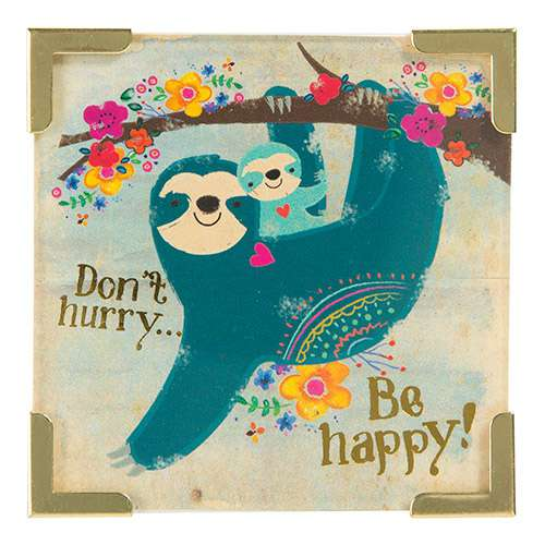 Dont Hurry Be Happy Sloth Magnet By Natural Life