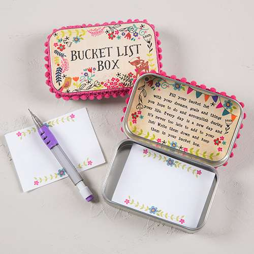 Bucket List Prayer Box By Natural Life