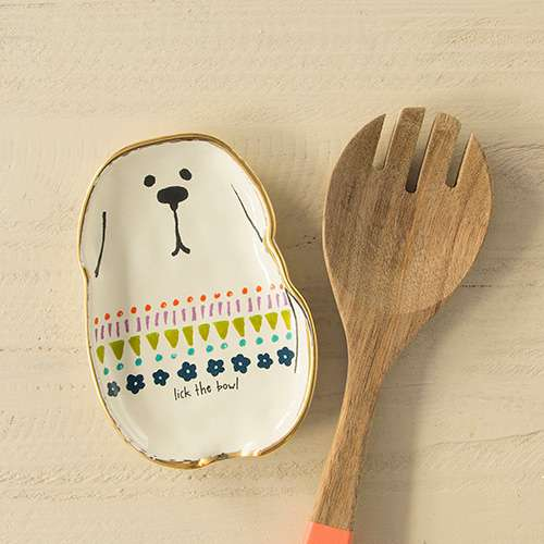 Lick The Bowl Dog Spoon Rest By Natural Life