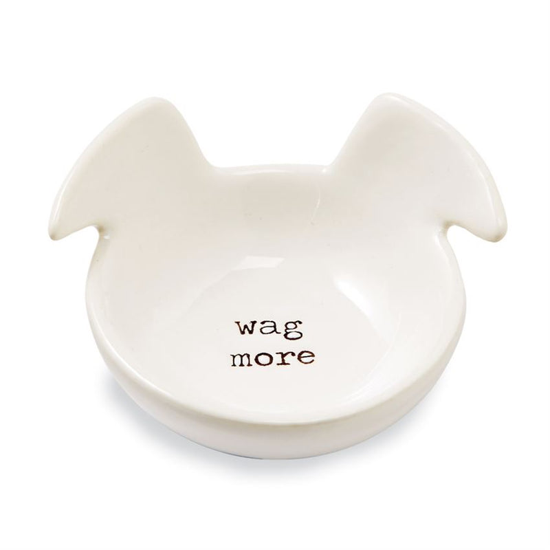 """Wag More"" Trinket Dish By Mud Pie"