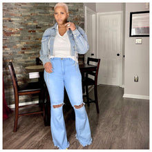 Load image into Gallery viewer, Nadine Wide Leg Jeans (Blue)
