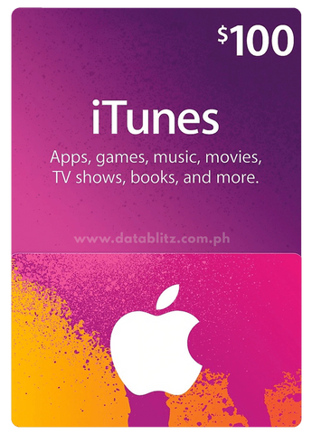 ITUNES DIGITAL CODE $100