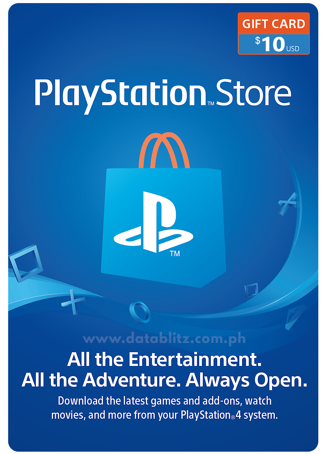 PLAYSTATION NETWORK DIGITAL CODE US$10