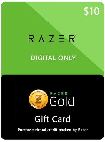 RAZER GOLD DIGITAL GIFT CODE - $10 US