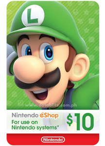 NINTENDO ESHOP DIGITAL CODE US$10