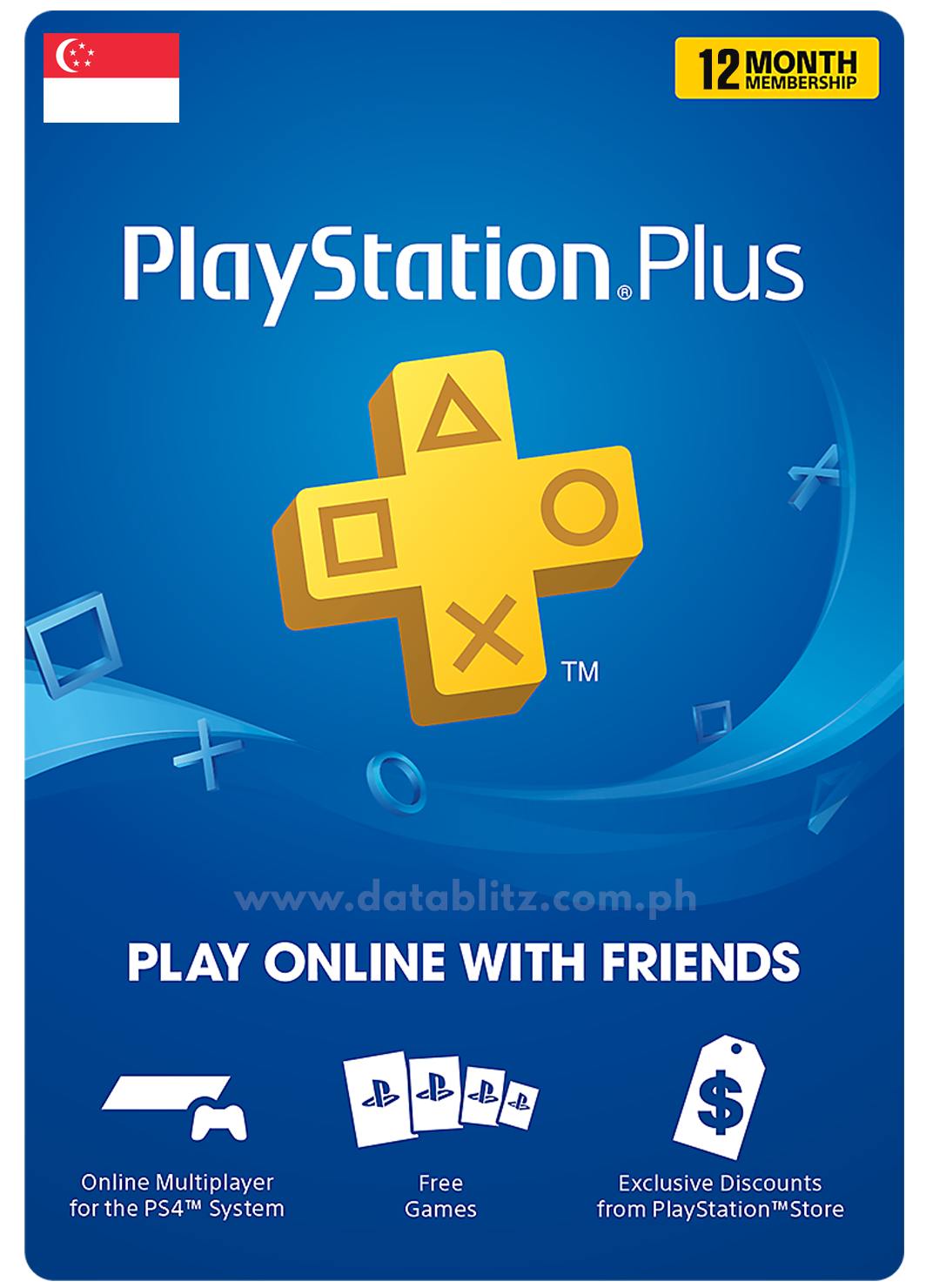 PLAYSTATION PLUS DIGITAL CODE 12 MONTHS - SG
