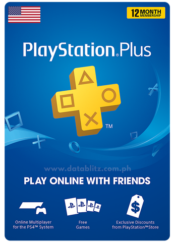 PLAYSTATION PLUS DIGITAL CODE 12 MONTHS - US