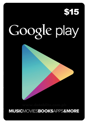 GOOGLE PLAY $15 DIGITAL CODE