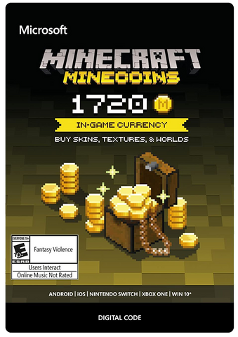 MINECRAFT MINECOINS PACK 1720 COINS (US) DIGITAL CODE