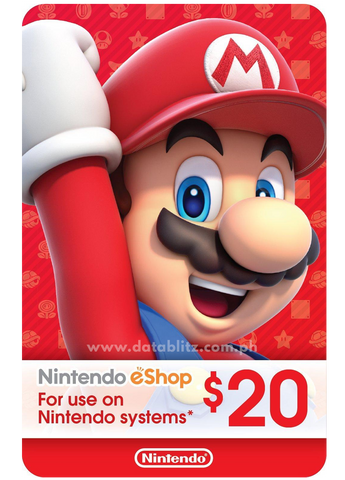 NINTENDO ESHOP DIGITAL CODE US$20