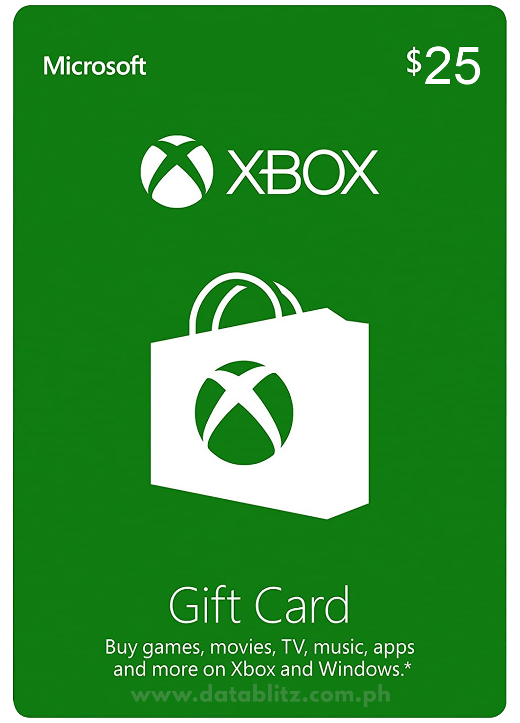 XBOX DIGITAL GIFT CODE US$25