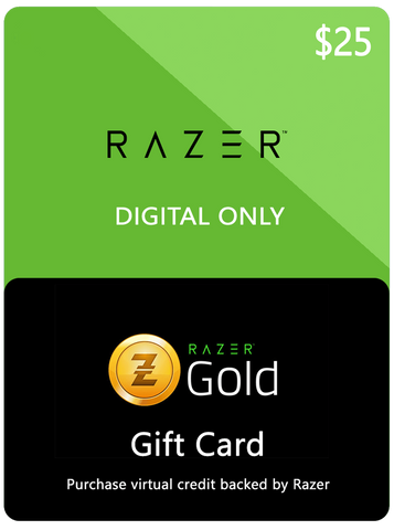 RAZER GOLD DIGITAL GIFT CODE - $25 US