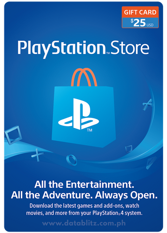 PLAYSTATION NETWORK DIGITAL CODE US$25