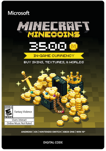 MINECRAFT MINECOINS PACK 3500 COINS (US) DIGITAL CODE
