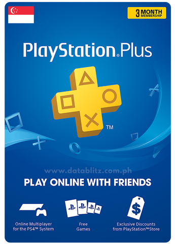 PLAYSTATION PLUS DIGITAL CODE 3 MONTHS - SG