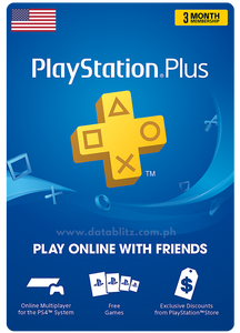 PLAYSTATION PLUS DIGITAL CODE 3 MONTHS - US
