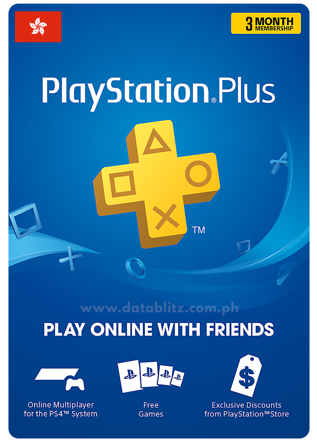 PLAYSTATION PLUS DIGITAL CODE 3 MONTHS - HK