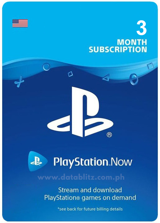 PLAYSTATION NOW (US) 3 MONTHS DIGITAL CODE