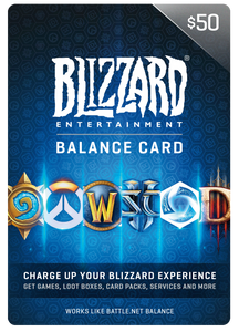 BLIZZARD DIGITAL BALANCE CODE - $50 US
