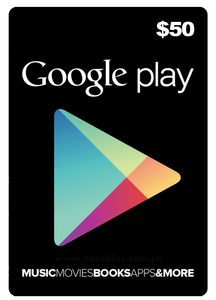 GOOGLE PLAY US$50 DIGITAL CODE
