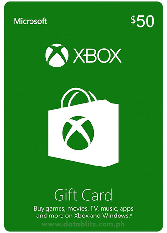 XBOX DIGITAL GIFT CODE US$50