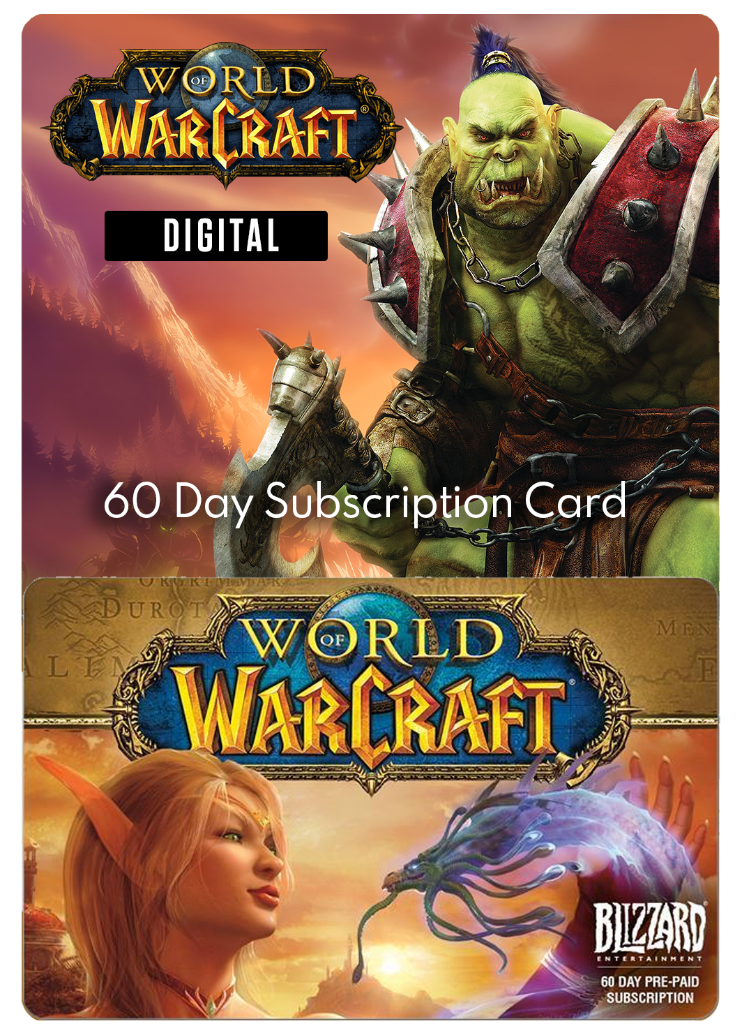 WORLD OF WARCRAFT 60-DAY SUBSCRIPTION CODE