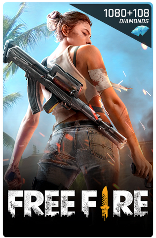 FREE FIRE 1080 + 108 DIAMONDS DIGITAL CODE