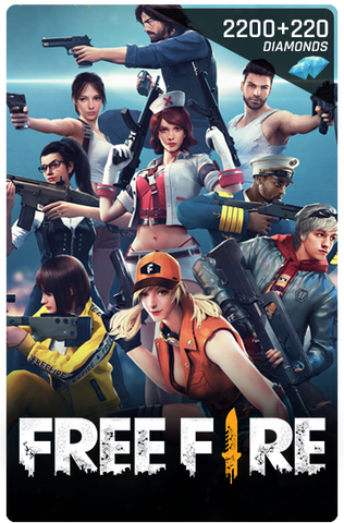 FREE FIRE 2200 + 220 DIAMONDS DIGITAL CODE