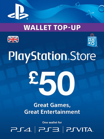 PLAYSTATION NETWORK DIGITAL CODE GBP50