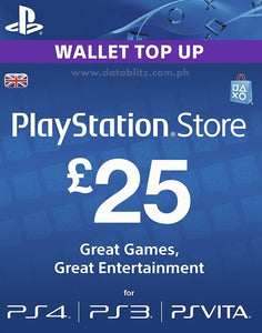 PLAYSTATION NETWORK DIGITAL CODE GBP25