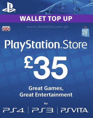 PLAYSTATION NETWORK DIGITAL CODE GBP35