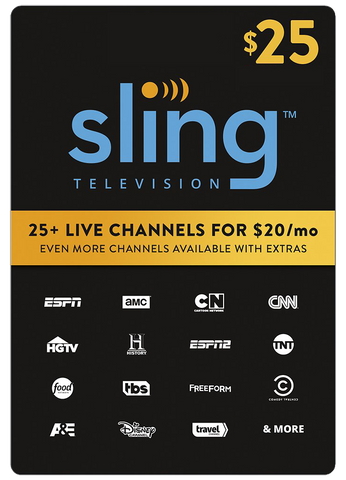 SLING TV DIGITAL CODE $25