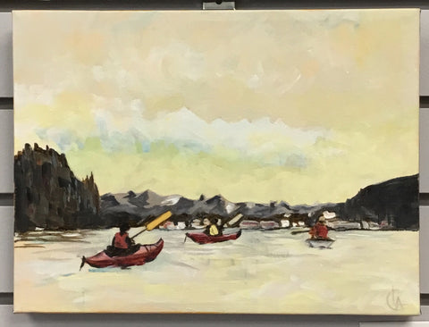Paddling the Narrows | Cindi Lagoudakis