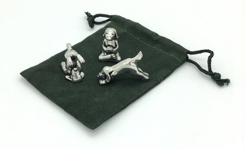 3pc Yoga Dog Miniature Set w/ pouch by Basic Spirit
