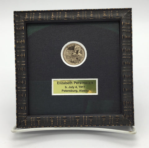 Framed Peratrovich Coin
