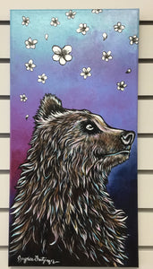 Summer Bear Canvas Painting by Jaynee Fritzinger
